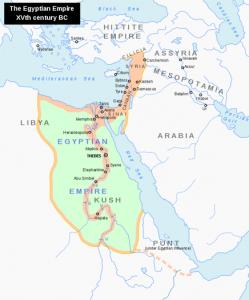 Ägypten zur Zeit des Exodus - die Sinai-Halbinsel war ganz ägyptisches Territorium